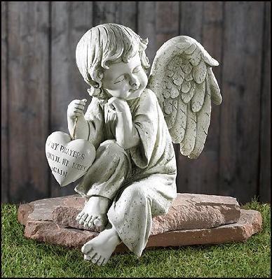 Memorial Angel Garden Figurine YARDSELLER Pinterest Garden