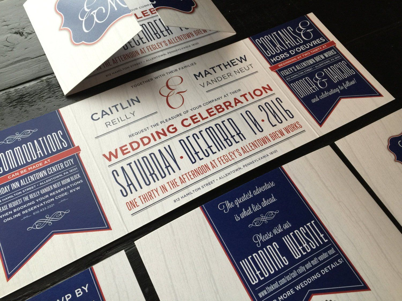 Custom Wedding Invitation Custom Fold Invitation Suite