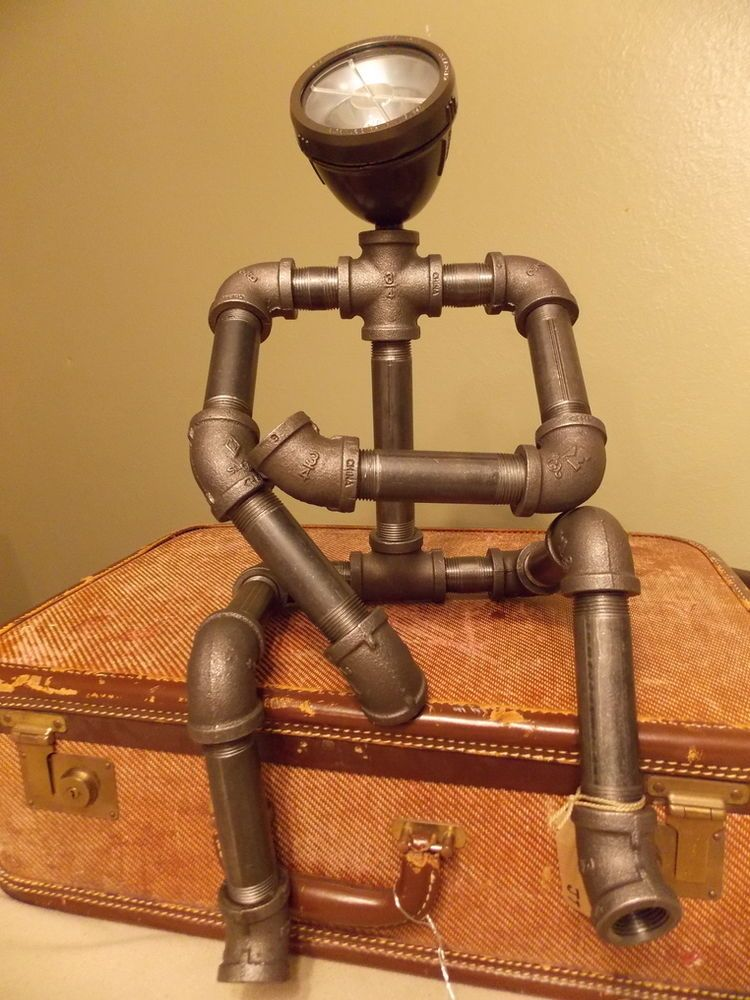 Futuristic Steampunk Style Robotic Looking Lamp Artsy
