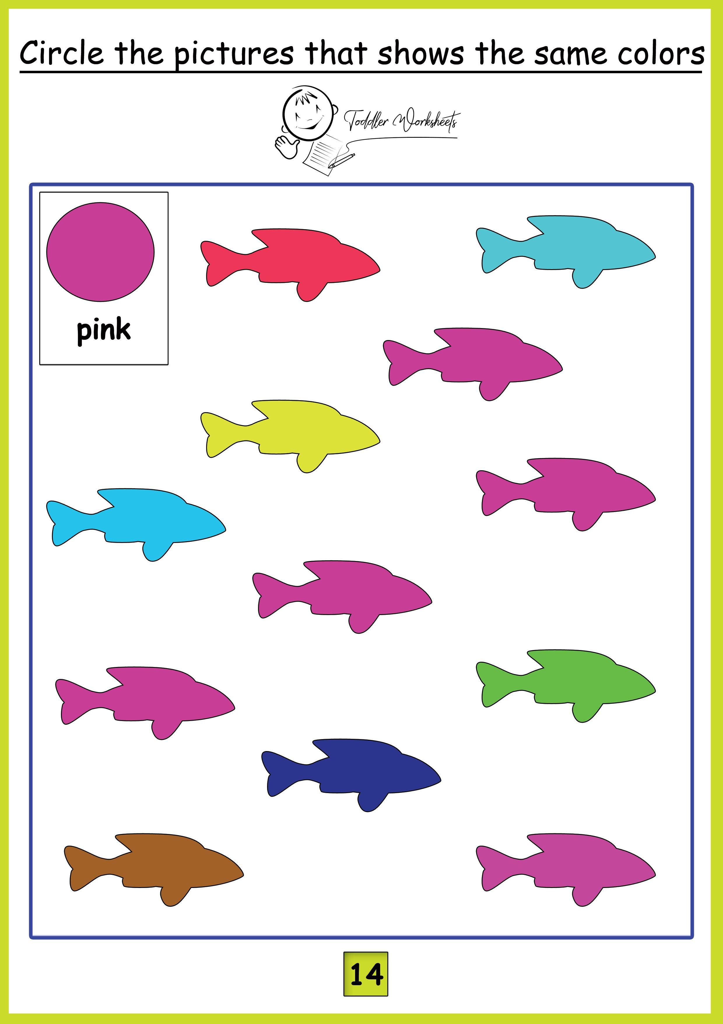 Preschool Free Worksheets Colors
