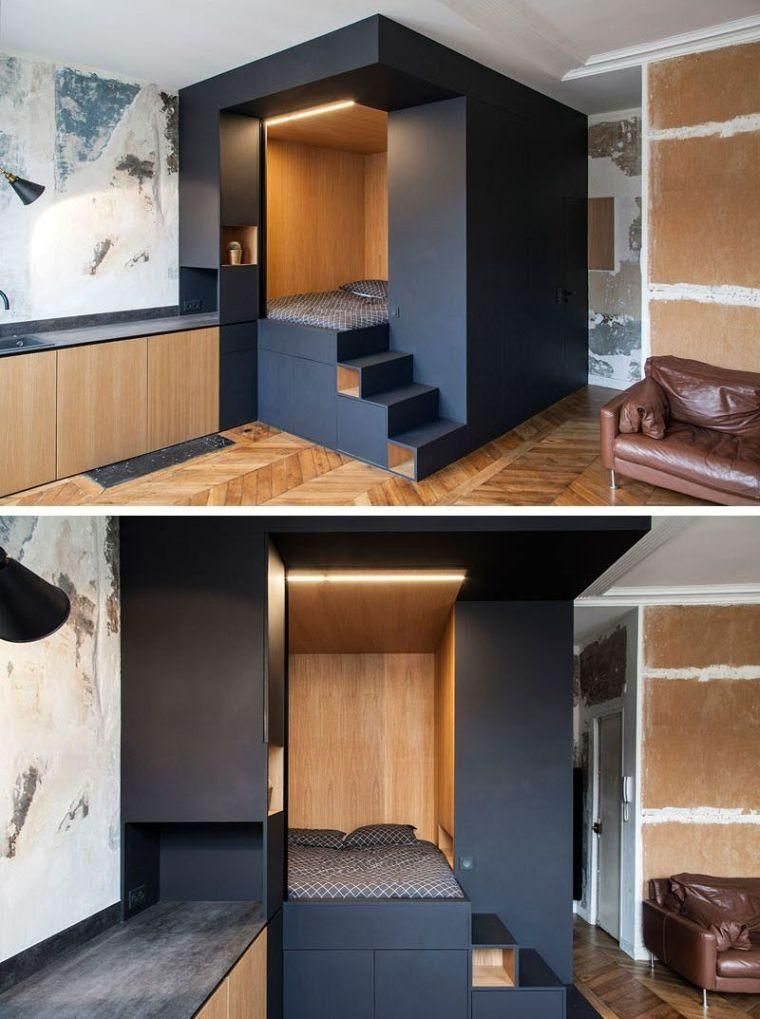Déco petit appartement parisien qui allie le design moderne et le