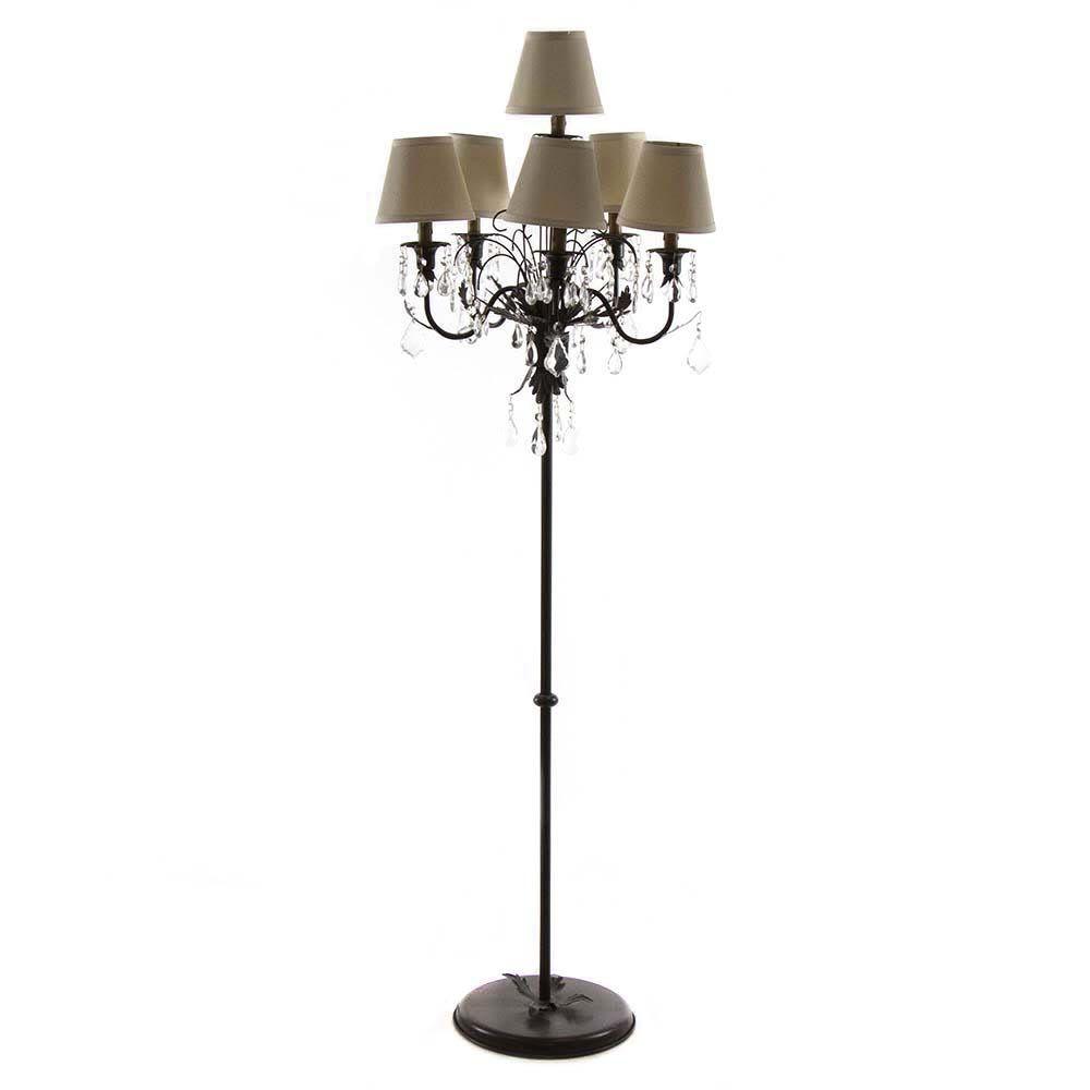 Arhaus 6 Light Chandelier Floor Lamp With Shades Chandelier Floor Lamp Lamp Floor Lamp