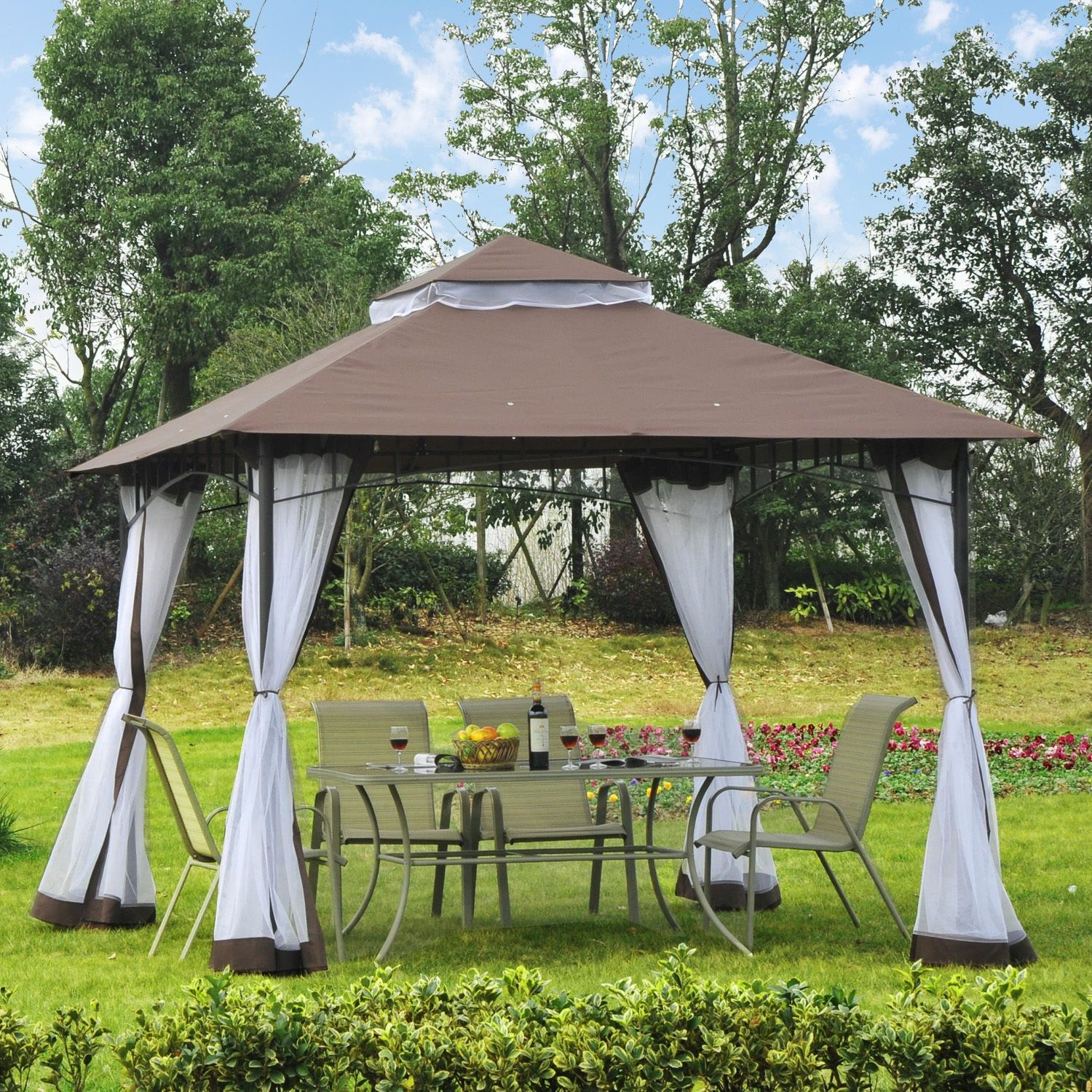 Zip Frame Gazebo Asda
