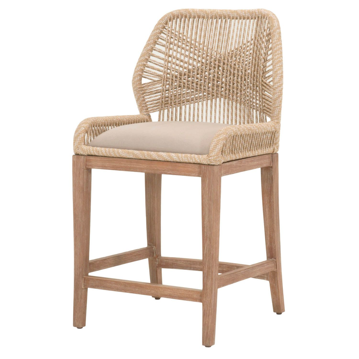 Luca Sand Counter Stool Shop Bar And Counter Stools Woven Bar Stools Counter Stools Bar Stools