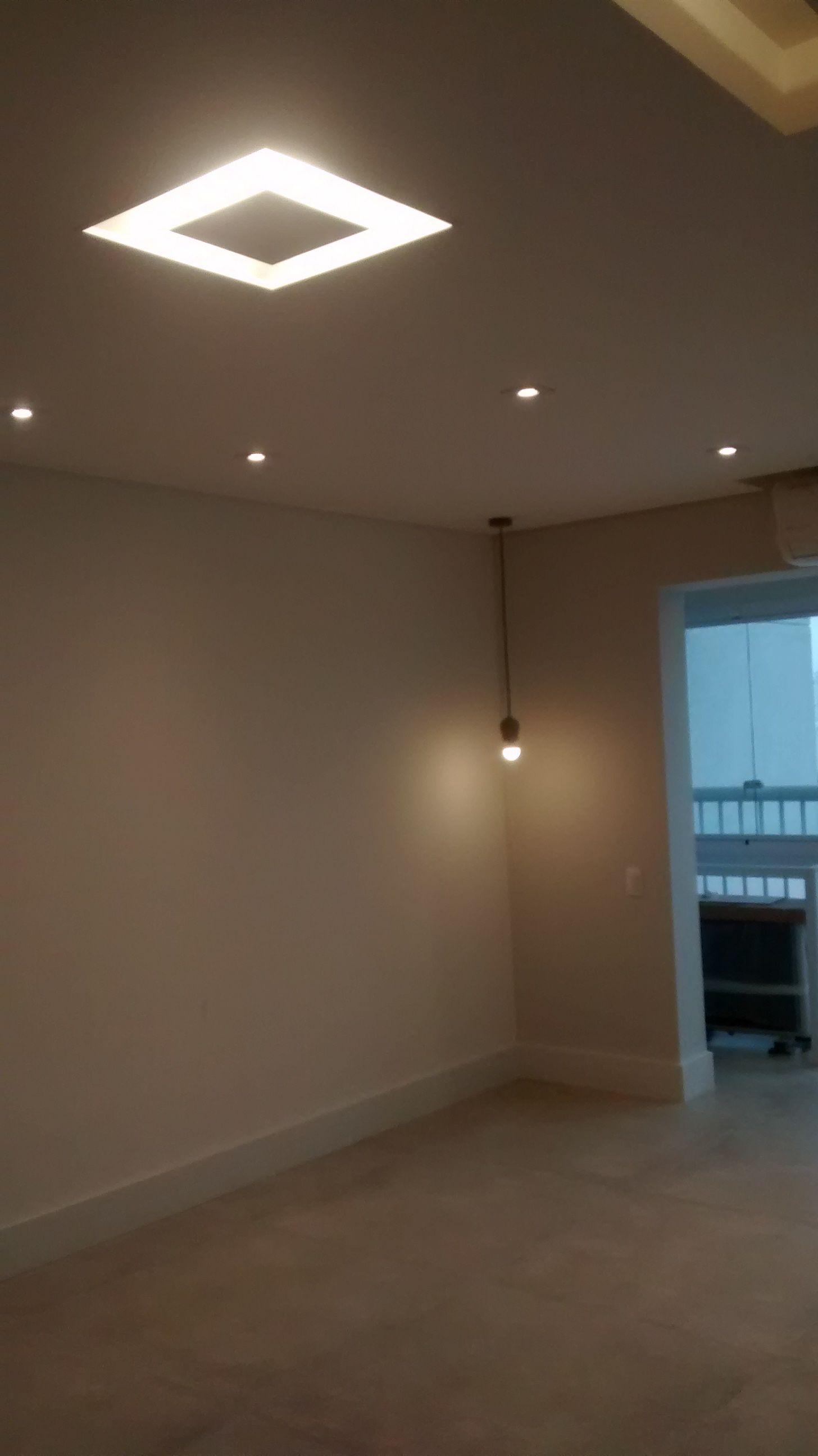 Sala Com Teto Rebaixado Tabicado Com Ilumina O Embutida Quarto