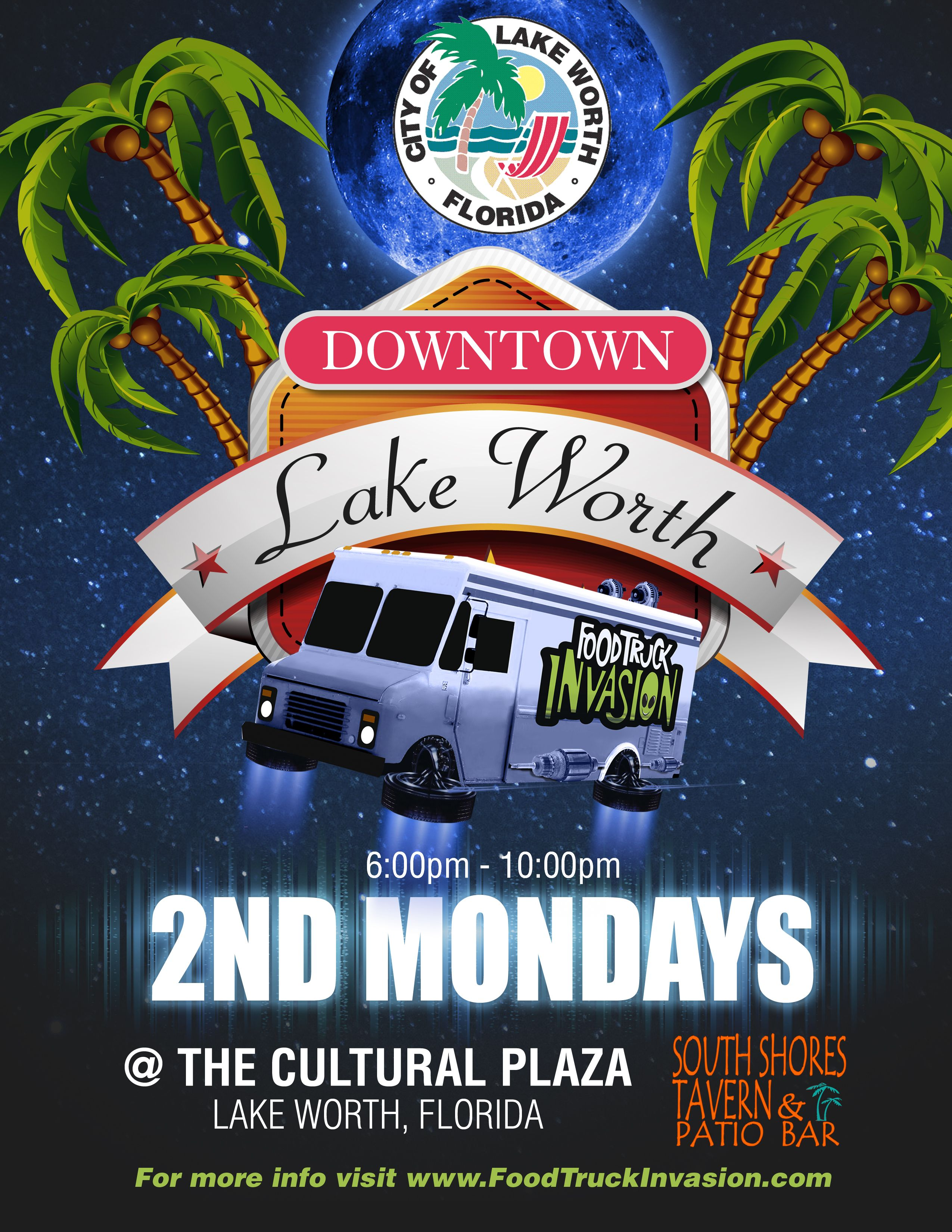 downtown lake worth food truck invasion @ cultural plaza | lake