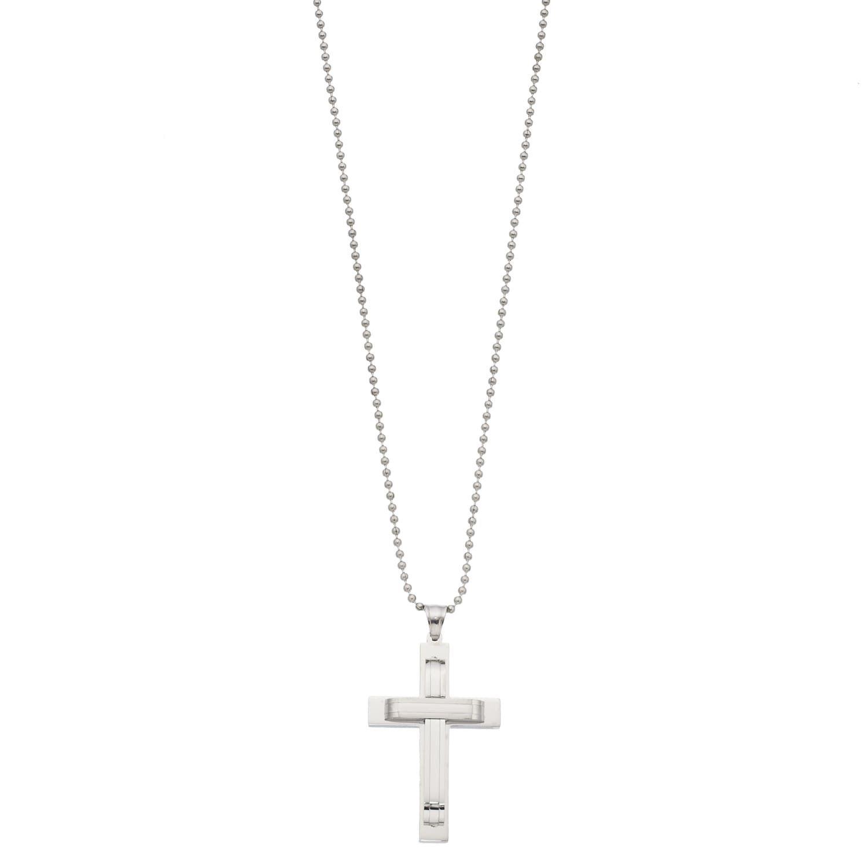 1913 Men S Stainless Steel Cross Pendant Necklace Stainless Men Steel Necklace Stainless Steel Cross Pendant Cross Pendant Necklace Cross Pendant