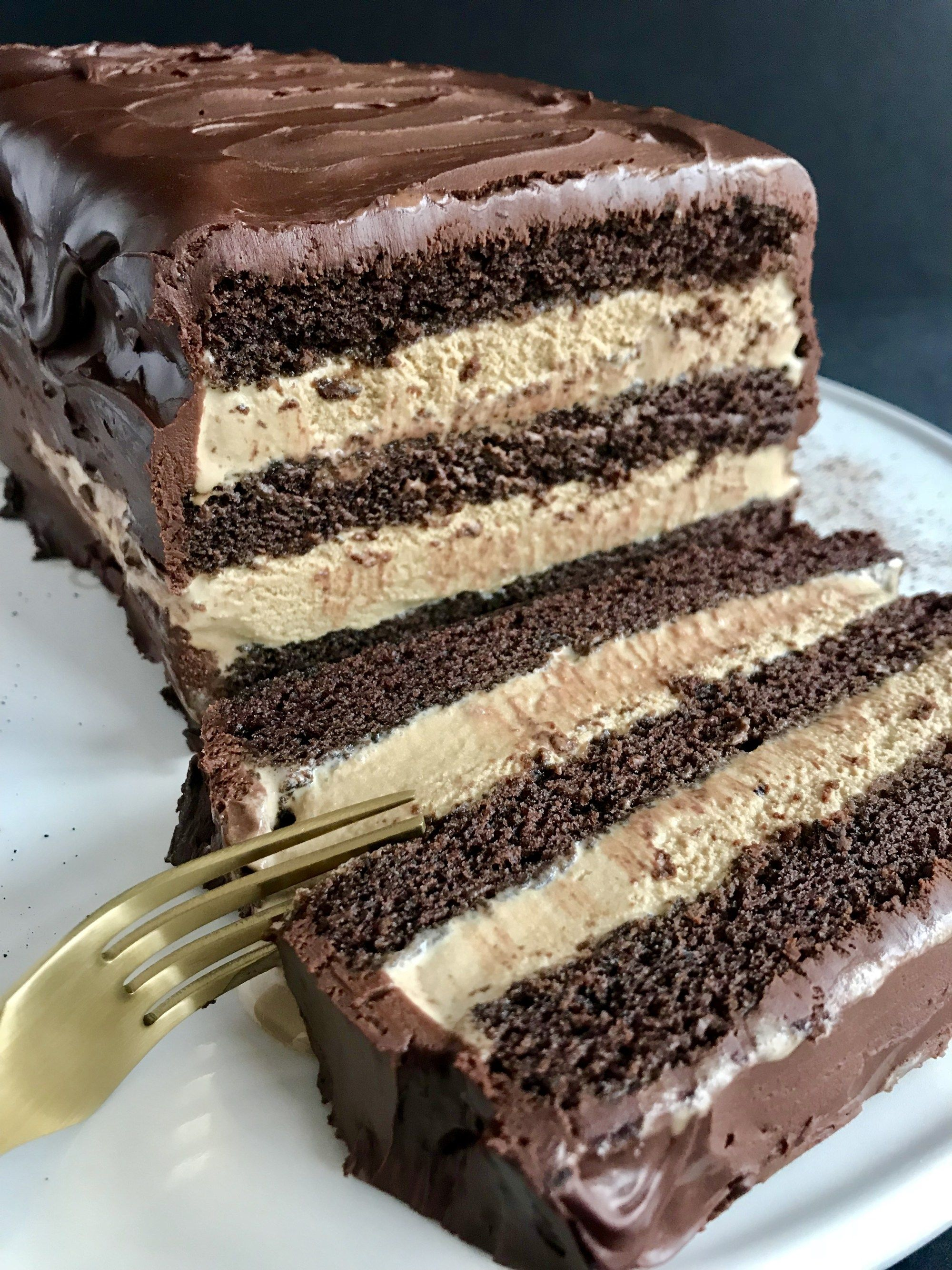 Mocha Ice Cream Cake Recipe Ice Cream Cake Homemade Ice Cream Cake Coffee Ice Cream Cake