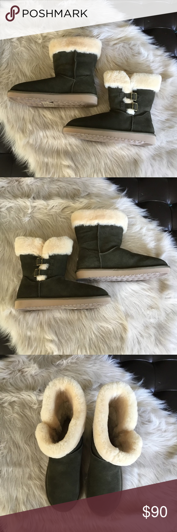 15003e91d19 Koolaburra By Ugg Suede Buckle Boot 11 Olive NWOB New Without Box ...