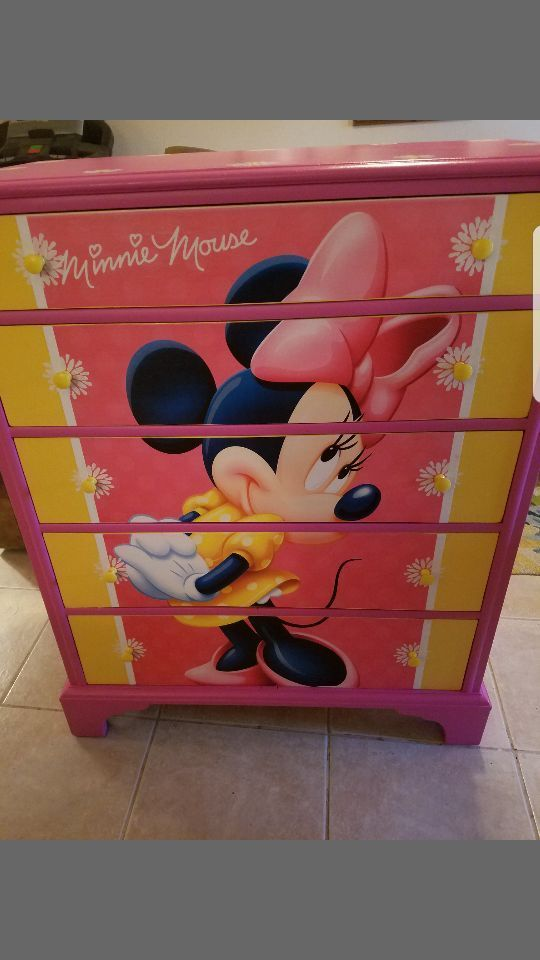 Reconditioned Certified Minnie Mouse Dresser We Deliver For A Fee Like Us On Facebook Called Imagine Your Furniture