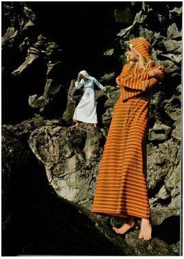 1960s caftan dress