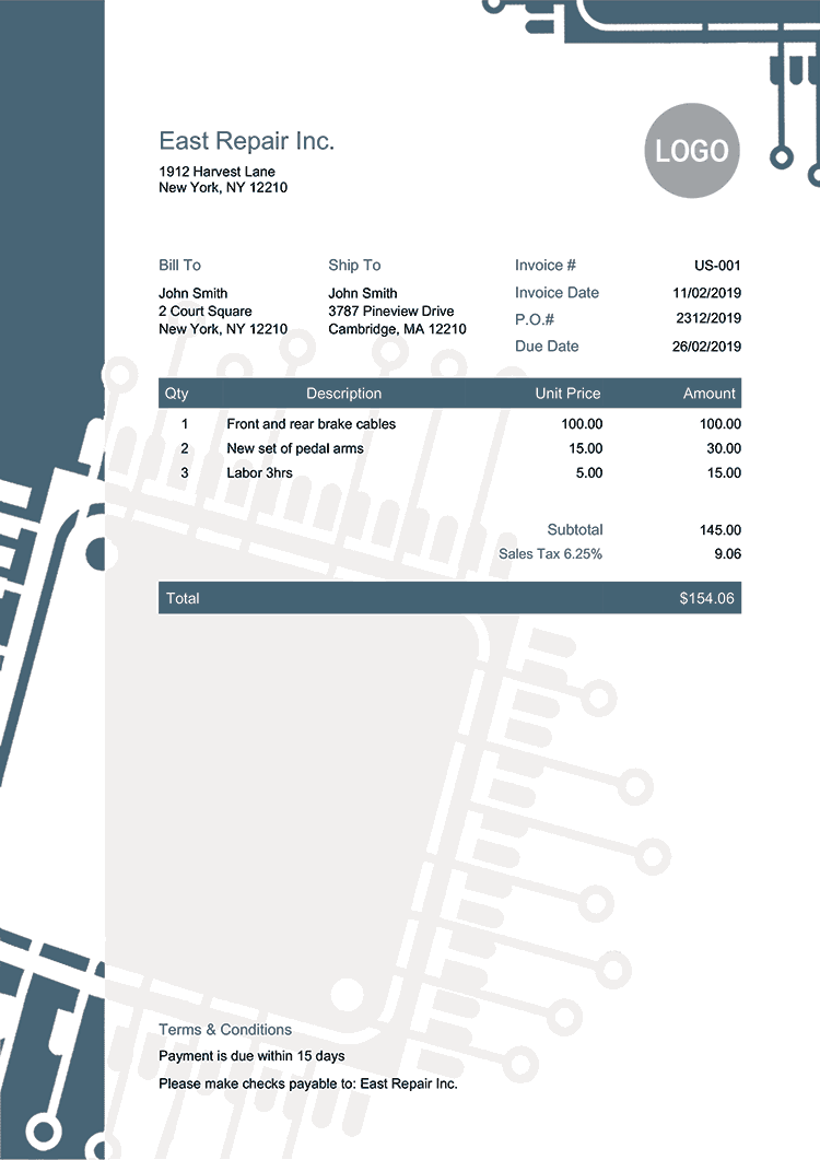 Invoice Template Us Hightech Invoice Template Free Receipt Template Templates