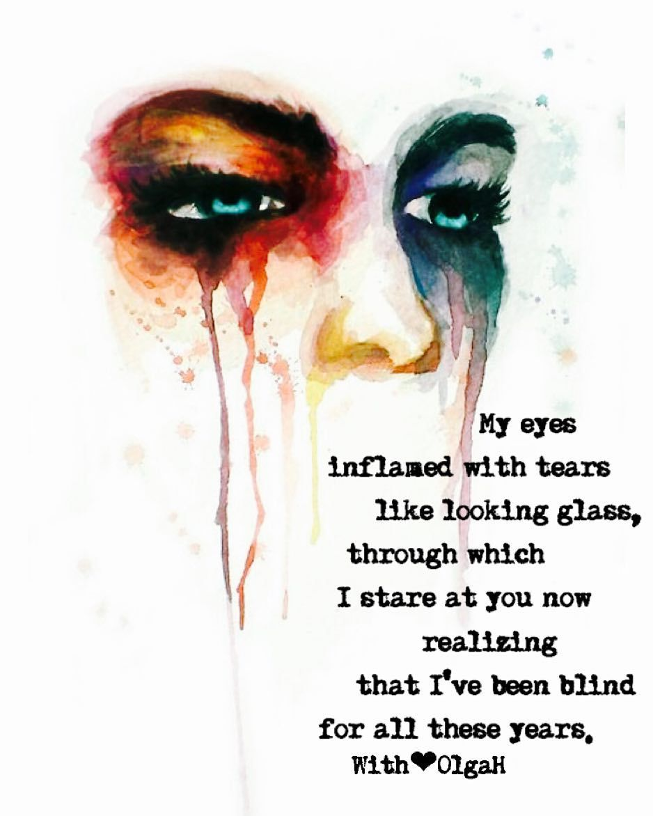 My eyes inflamed with tears like looking glass through which I stare at you now realizing that I've been blind for all these years. For my good night poem I am posting this piece which I have written for @ayladiamond and @shaylairene December poetry challenge day one topic Through the Looking Glass. I hope you guys like it. #poetryforthesoul #olgahavrylyukpoetry #originalpoetry #writersofinstagram #poetsofinstagram #instadaily #poetrycommunity #followme #writerscomunity #writerscorner…