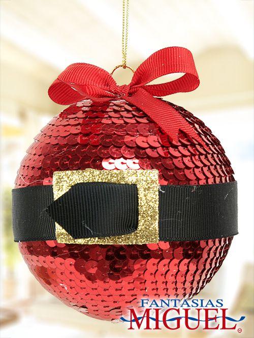 Esfera de Santa Claus / lentejuela / Navidad 2014 / Adorno