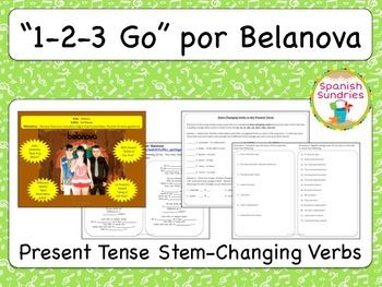 1 2 3 Go Present Tense Stem Changing Verbs Student Learning