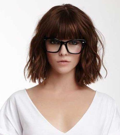 20 Besten Frisuren Fur Frauen Mit Brille Pony Frisur Brille Frisuren Mit Pony Mittellang Ponyfrisuren