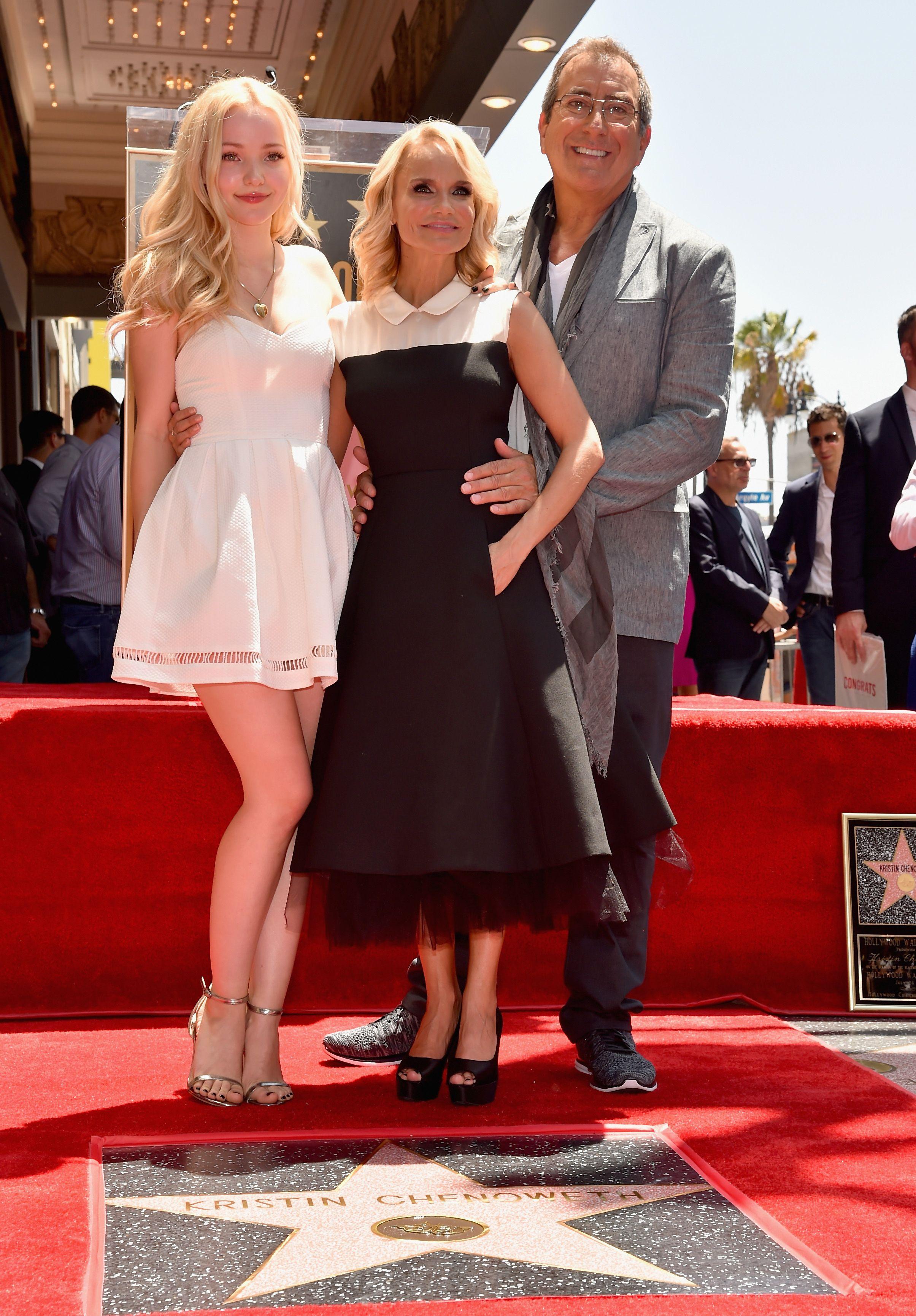 Dove Cameron Kristin Chenoweth Hollywood Walk 724 Dove Cameron