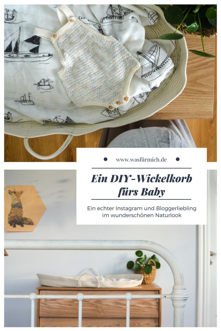 Ein DIY - Wickelkorb fürs Baby   Das baby, Selbstgemachtes und Babys