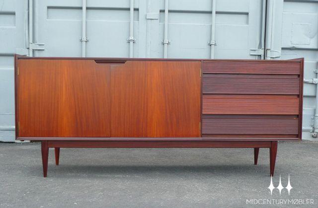 Danish Modern Credenza Sideboard : Danish modern mid century cochen rosewood credenza sideboard