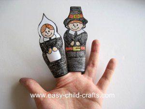 Pilgrim finger puppets