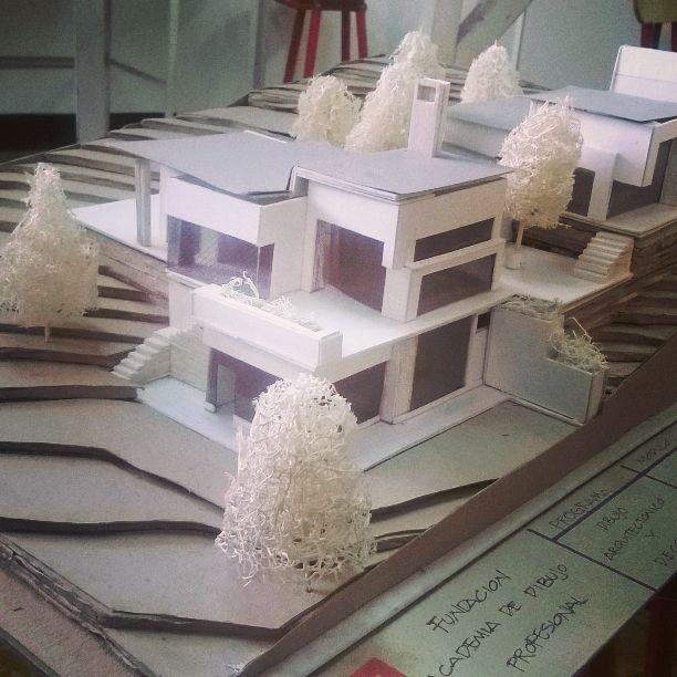 Maqueta esquem tica de casa la petra amorplano - Como hacer una maqueta de una casa ...