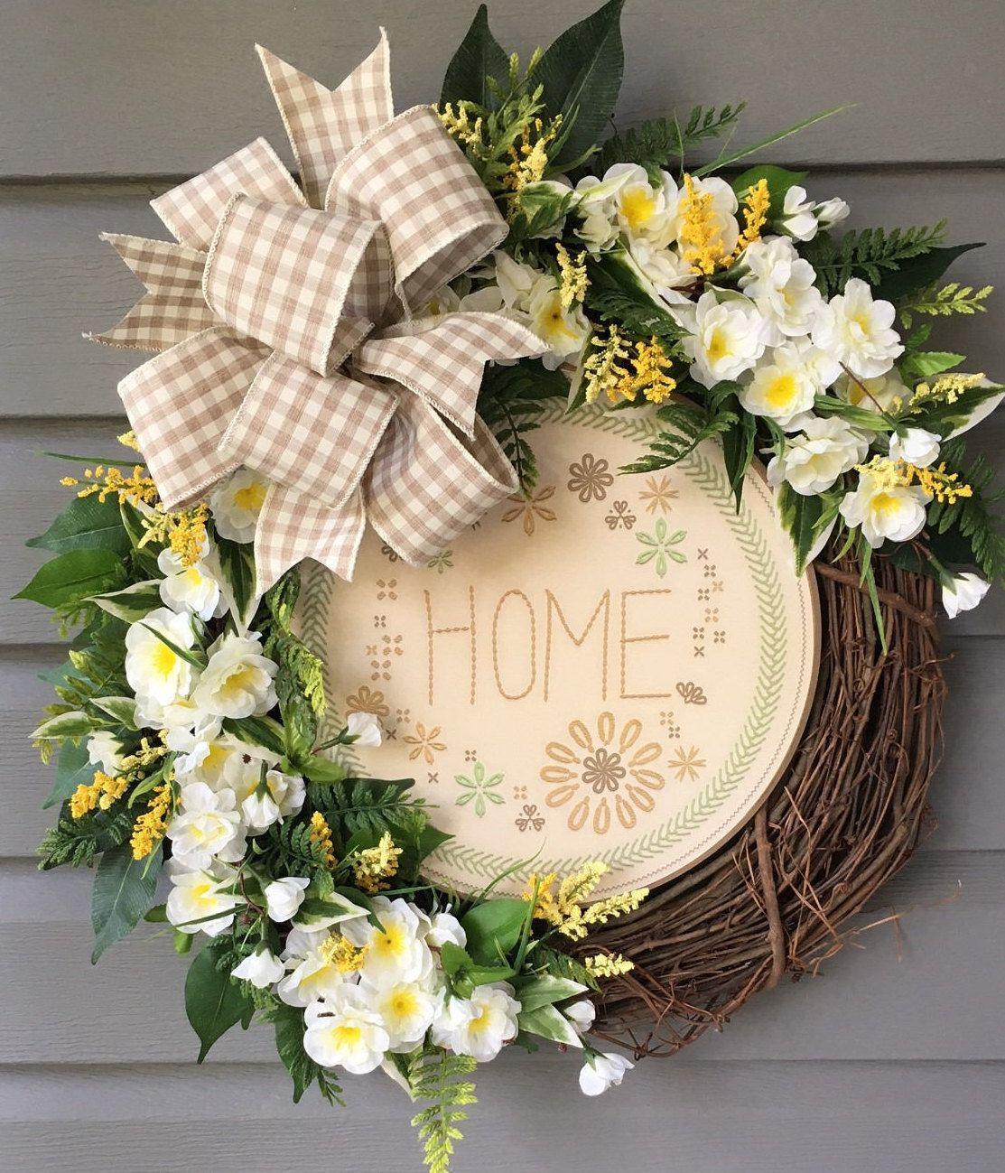 Front door decor for all seasons - Summer Wreath Year Round Wreath For Front Door All Season Wreath For Front Door