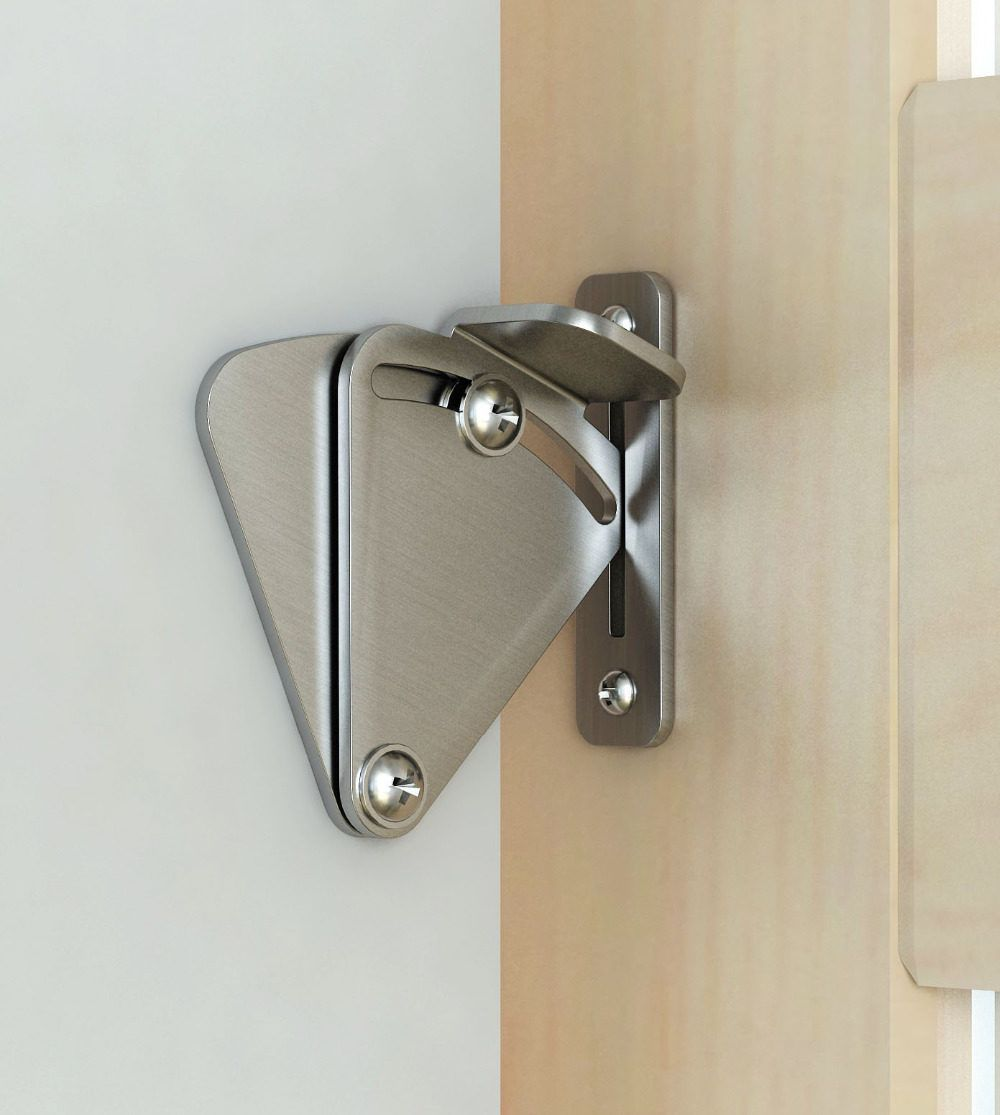 DIYHD barn door lock stainless steel barn door latch black