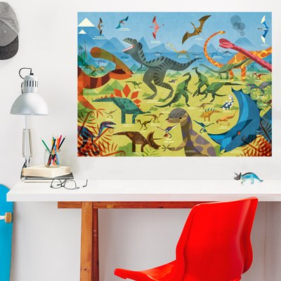 Oopsy Daisy All about Dinosaurs by Daviz Wall Decal | Wayfair