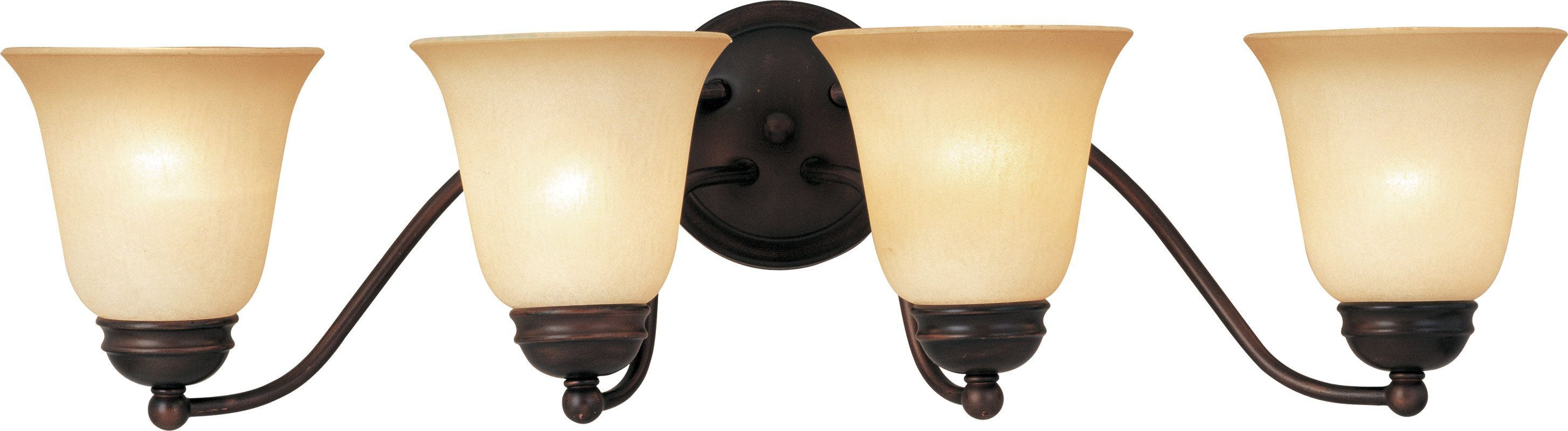 "Photo of Maxim 2123WSOI Oil Rubbed Bronze / Wilshire Glass Basix 27 ""Wide Bath Light"