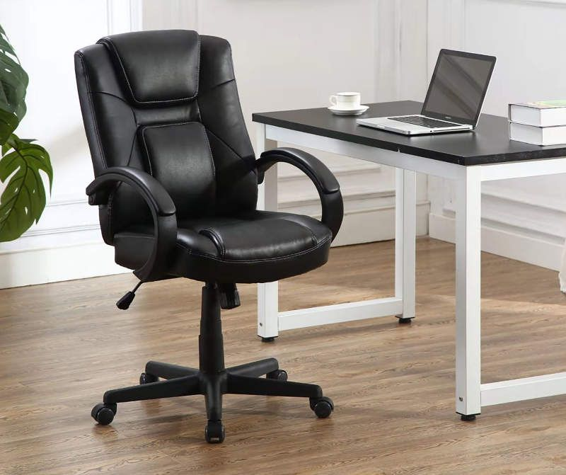Stratford Black Faux Leather Executive Office Chair Big Lots In 2020 Executive Office Chairs Office Chair Classic Chair Design