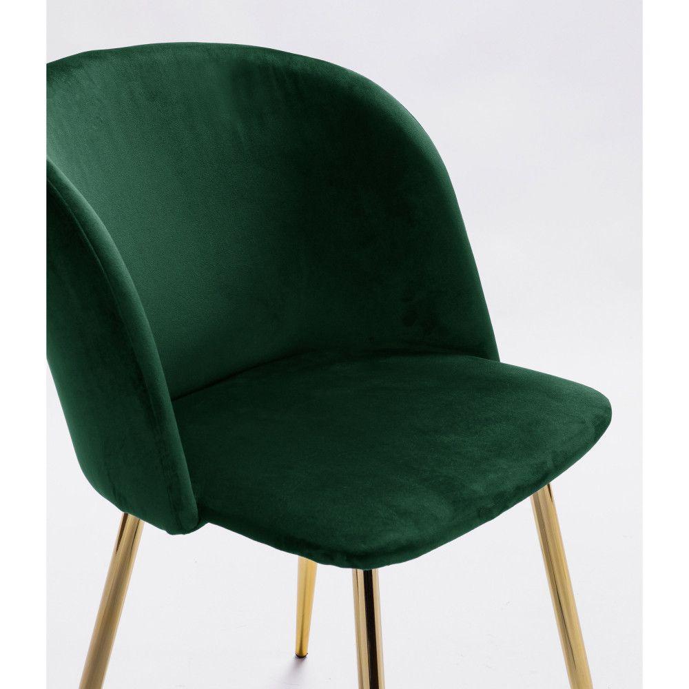2 Fauteuils De Table Velours Et Pieds Dores Drawer Vitikko Fauteuil De Table Fauteuil Design Mobilier Vert