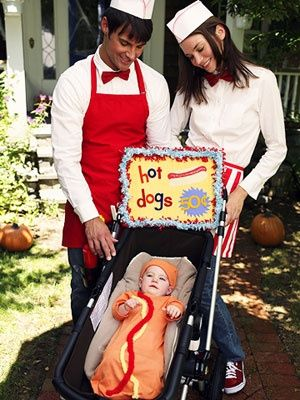 Hot dog vendor Halloween costumes for the family Out of Character - halloween costume ideas for family