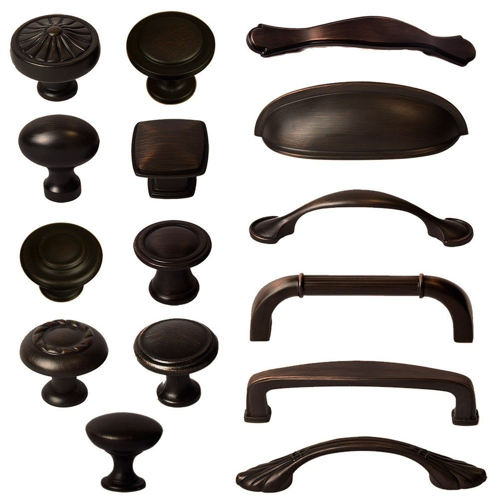 Cabinet Hardware Knobs Bin Cup Handles and Pulls - Oil Rubbed Bronze ...