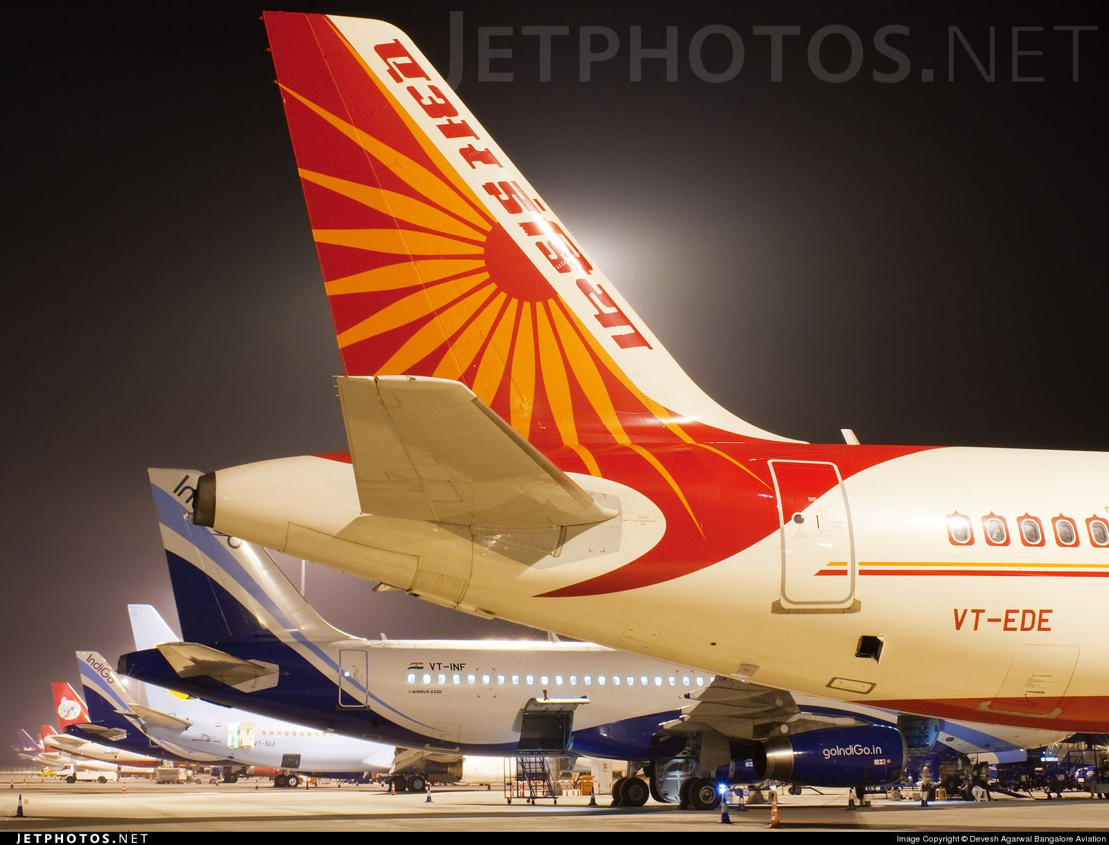 The A320 Is The Queen Of Bangalore Airport The Night Ramp At