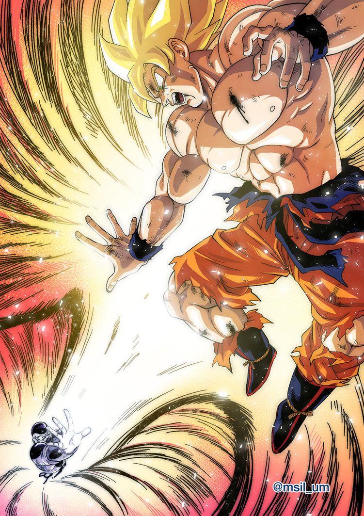 Songoku Vs Freezer By Oume12 Deviantart Com On Deviantart Anime Dragon Ball Super Dragon Ball Artwork Anime Dragon Ball