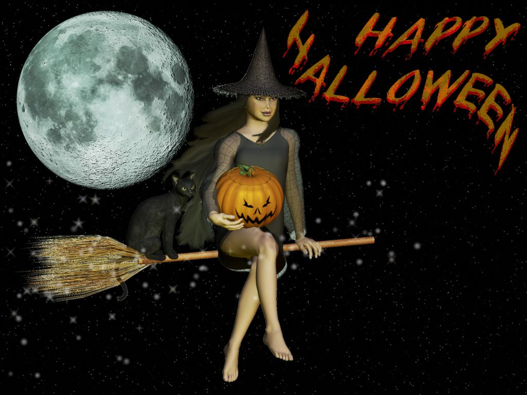 Scary Halloween HD Wallpapers Pumpkins Witches Spider Web