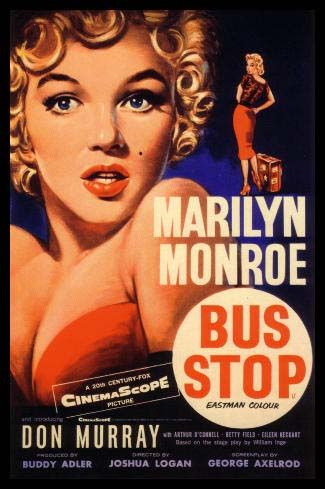 BUS STOP MOVIE POSTER Marilyn Monroe 6 HOT RARE NEW