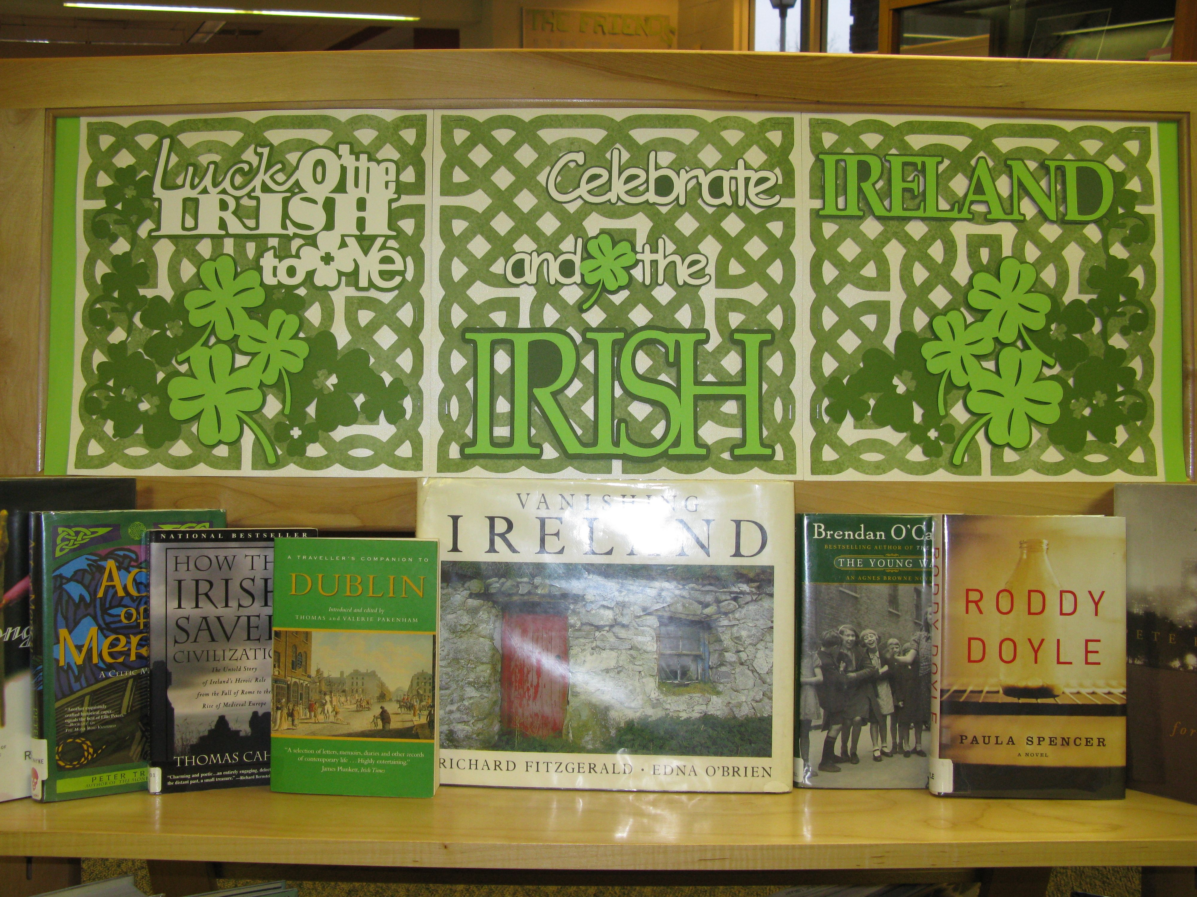 westwood library st patrick u0027s day book display made on my cricket