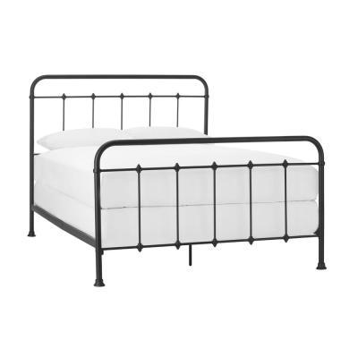 Stylewell Dorley Farmhouse Black Metal Full Bed 57 87 In W X 53 54 In H In 2020 Metal Platform Bed Black Metal Bed Black Iron Beds