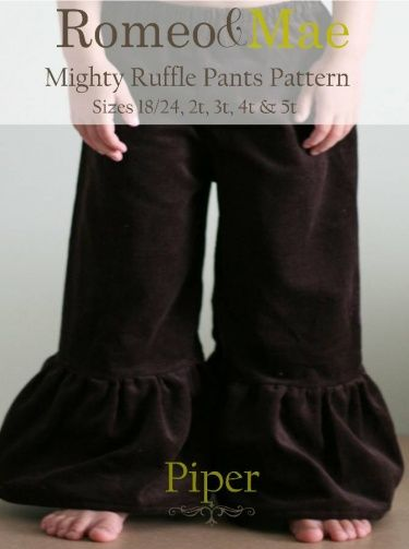 Ruffle pants sewing pattern/ tutorial DIY