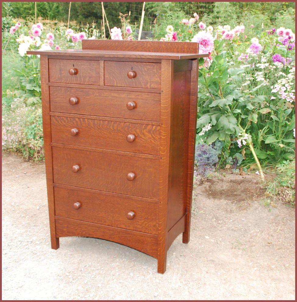 Mission Oak Bedroom Furniture Gustav Stickley Harvey Ellis Style Custom Highboy Dresser