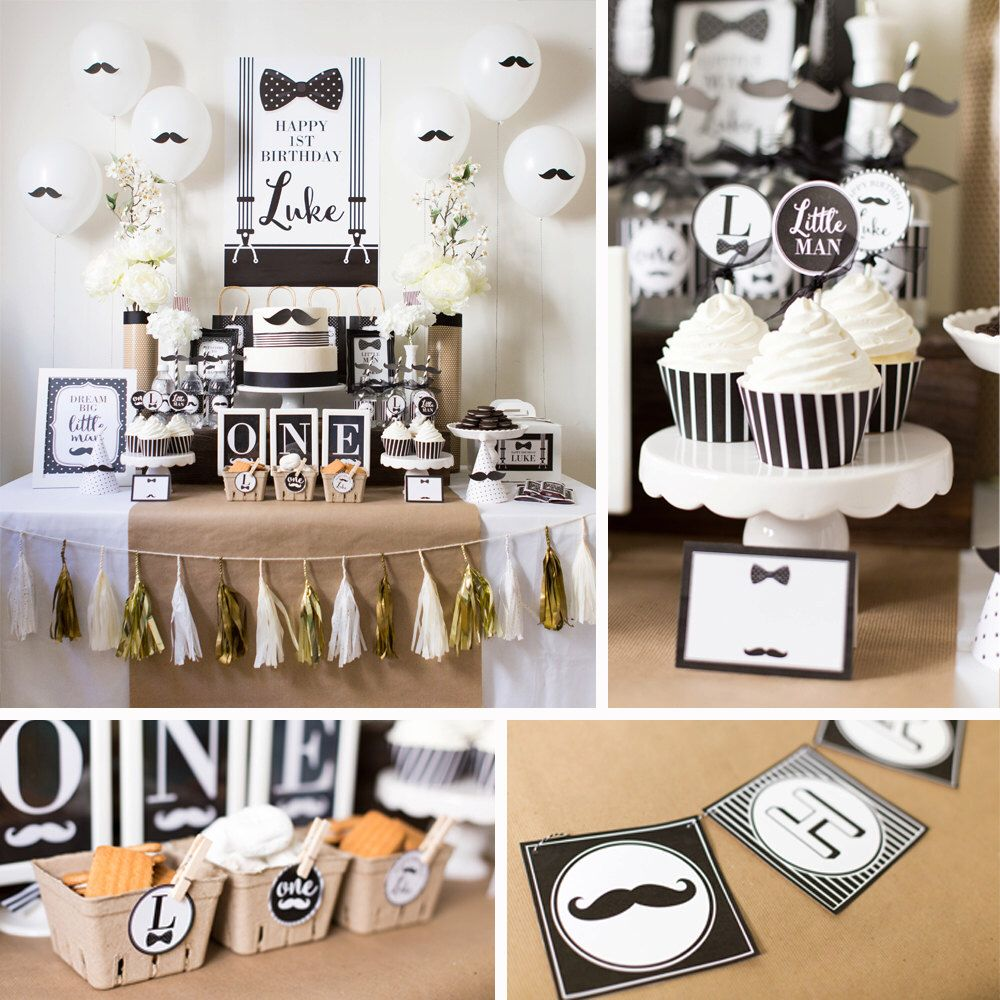 DIGITAL FILES Mustache Party Decorations Mustache Birthday