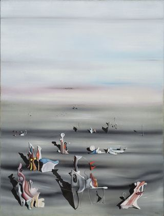 "The Furniture of Time  Yves Tanguy (American, born France. 1900–1955)  1939. Oil on canvas, 46 x 35 1/4"" (116.7 x 89.4 cm). James Thrall Soby Bequest. © 2012 Estate of Yves Tanguy / Artists Rights Society (ARS), New York"