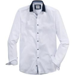 Photo of Olymp Level Five Casual Shirt, body fit, polo collar, white, M olympymp