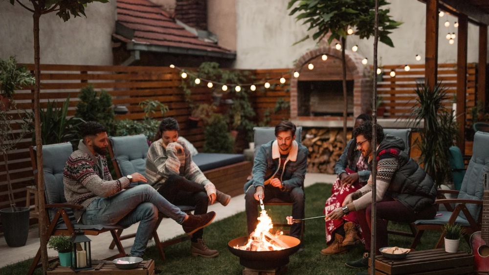 29 Outdoor Fire Pit Ideas That Are Lit in 2020 | Outdoor ... on For Living Lawrence Fire Pit id=80289