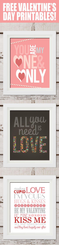 FREE Valentine\'s Day Printables | Imprimibles gratis, San valentín y ...
