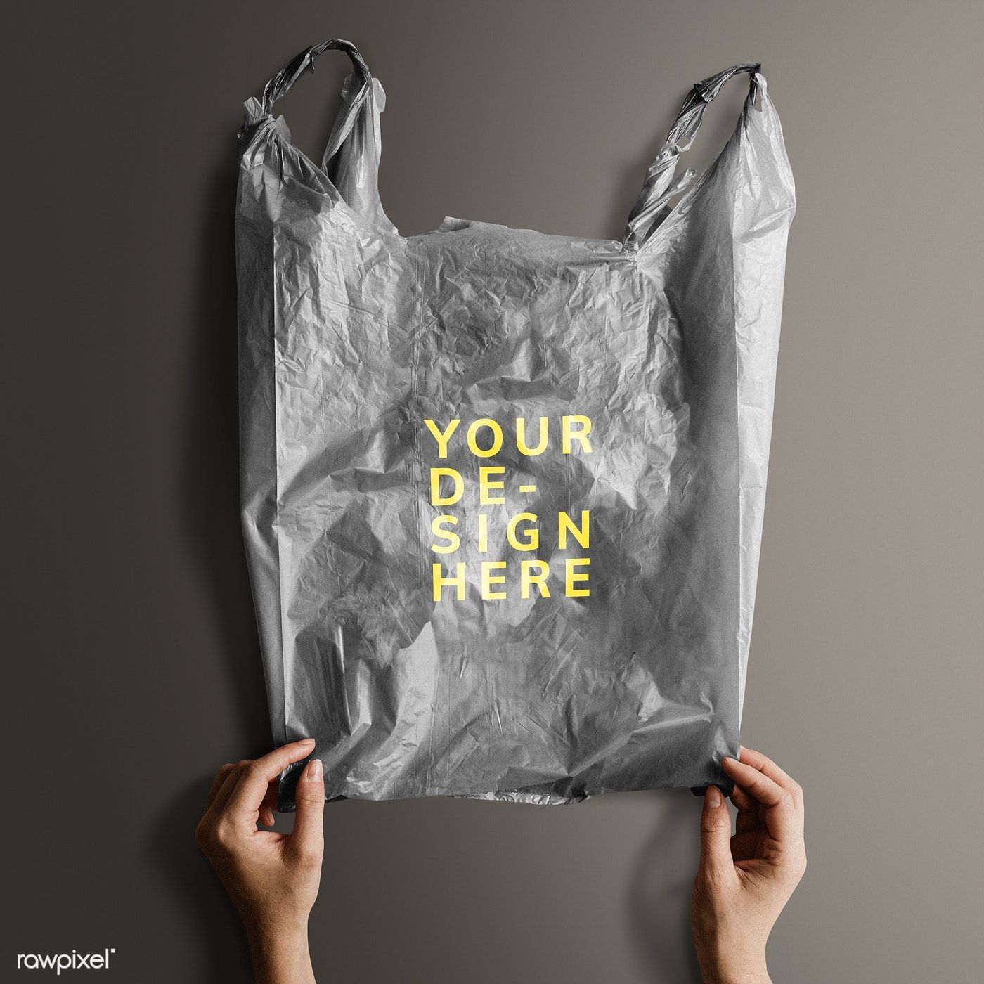Download Download Premium Psd Of Gray Your Design Here Plastic Bag Mockup 1213789 Bag Mockup Plastic Bag Design Plastic Bag