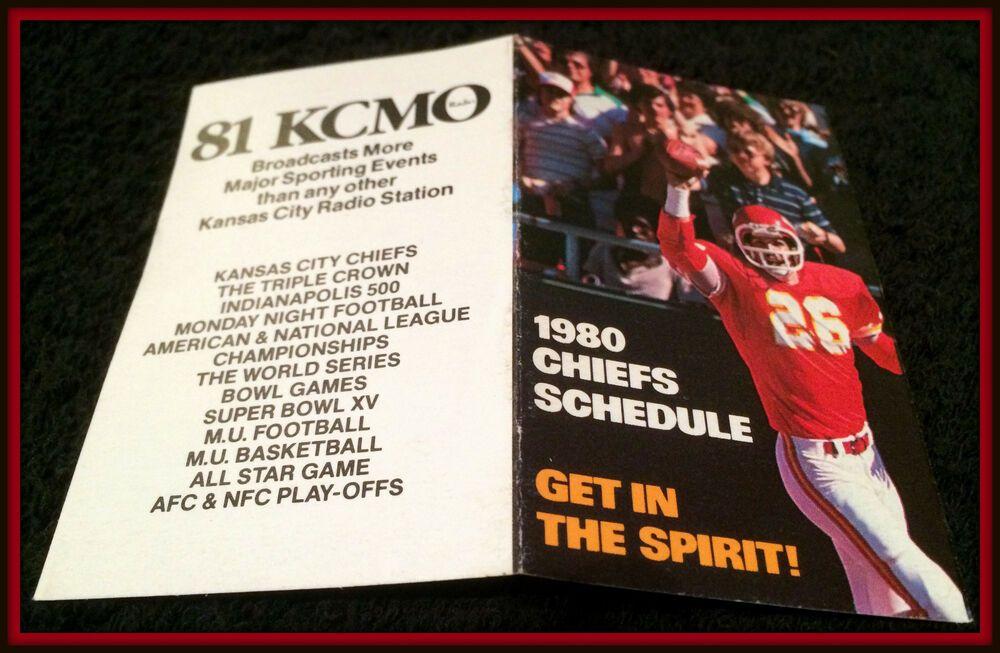 1980 KANSAS CITY CHIEFS KCMO RADIO 81 FOOTBALL POCKET