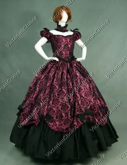 Southern Belle Victorian Prom Dress Period Ball Gown Reenactment ...