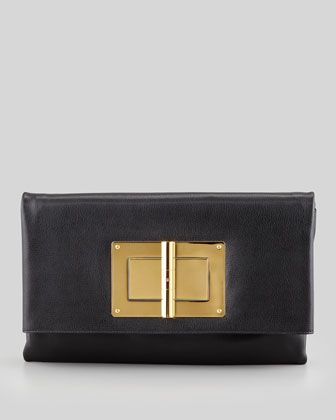 Soft Natalia Leather Clutch Bag by Tom Ford at Bergdorf Goodman.